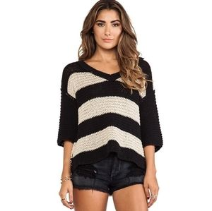 Free People | Slouchy Boxy Chunky Striped Sweater